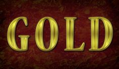 Create Stroked Golden Text with Layer Styles and Stone Texture