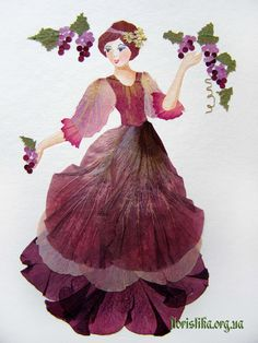 paint on dry flower Leaf Crafts, Flower Crafts, Dame Nature, Pressed Flower Art, Plant Art, How To Preserve Flowers, Arte Floral, Leaf Art, Rock Crafts