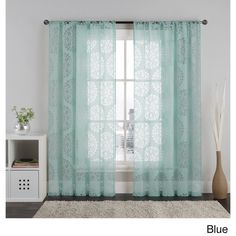 VCNY Milan 84-Inch Burnout Medallion Sheer Curtain Panel