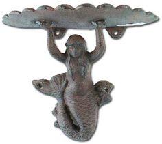 Cast Iron Mermaid Shelf (CI-A628) - $15.99 by Marshmallow Mermaid