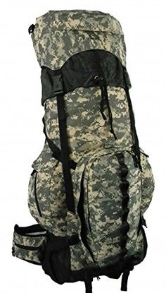 KCliffs Expandable 6000Ci  8000Ci Sport Scout Camping  Hiking Backpack With Aluminum Frame Travel Bag44 Acu Digital Camouflage ** Continue to the product at the image link. (This is an affiliate link) #CampingHikingBackpacks