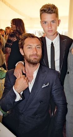 Jude Law and son Rafferty Law. He is going to be one sexy hunk when he's older