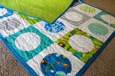 Quilting: Jungle Bungle baby quilt