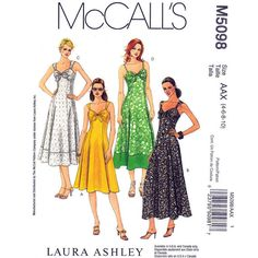 Womens Dress Pattern McCalls 5098 Laura by finickypatternshop