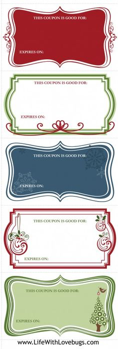 DIY FREE, PRINTABLE GIFT COUPON - Give a gift from the heart this - coupon template for word