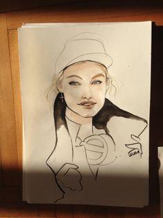 Zanita illustration - She's a maniac