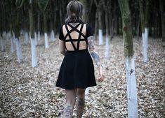 Goth Nu Goth Black Pentagram Dress 10% discount code VALOLA free shipping  * * Dark fashion, dark beauty, Gothic, witch, witchy