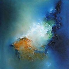 Love how moody this painting is! Art by Taraneh Ebrahimi #artist #canvas #studio…