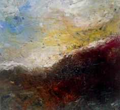 16x16 abstract landscape acrylic original by ModernBohemianMaine, $62.00