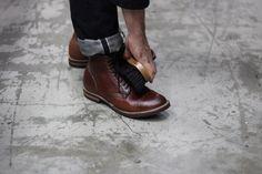 Viberg Boot - Sample Horween Scotch Grain Whiskey Cavalier #viberg #boots #nattyguy