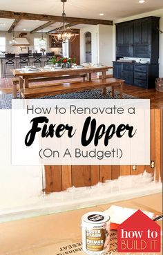 64 Trendy Home Remodeling Renovation Fixer Upper Home Remodeling Diy, Basement Remodeling, Home Renovation, Kitchen Remodeling, Basement Ideas, Home Budget, Diy On A Budget, Budget Plan, Home Improvement Projects