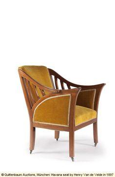 Chair by Henry Van de Velde (c) 1897