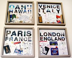 17 Ideas to Organize and Display Travel Mementos With Style: It always seems like a great idea to purchase souvenirs on your trip .