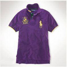 Ralph Lauren Men Slim-Fit American Big Polo Purple Short Sleeved  http://www.ralph-laurenoutlet.com/