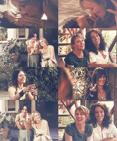 Love the parallels between the first and last seasons :) Tina, Bette, Shane Cute Lesbian Couples, Lesbian Pride, Shane Mccutcheon, But Im A Cheerleader, Leisha Hailey, Katherine Moennig, Jennifer Beals, The L Word, Love And Lust