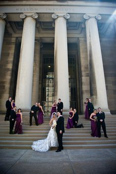 scatter bridal party. go in and take a portrait of each group/couple
