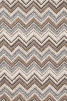 Dash & Albert | Zigzag Natural Micro Hooked Rug | Add a bit of zip to your favorite space with this wool/cotton area rug with a bold, dimensional pattern of grey, ivory, and brown. A guaranteed style statement!