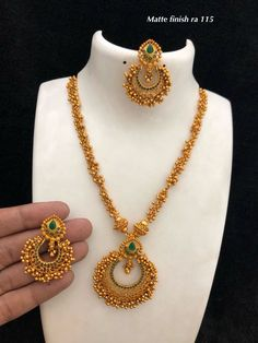 Necklaces Simple Temple jewellery available at Ankh Jewels for booking WhatsApp on 91 Gold Chain Design, Gold Bangles Design, Gold Earrings Designs, Gold Jewellery Design, Gold Designs, Necklace Designs, Gold Temple Jewellery, Gold Jewelry Simple, Silver Jewelry