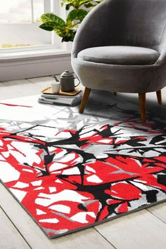 High quality modern machine made rugs Trendy Colors, Vibrant Colors, Rubber Backed Runners, Modern Hallway, India Colors, Polypropylene Rugs, Moroccan Design, Machine Made Rugs, Red Rugs