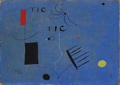 Our work of the week is Joan Miró's 'Tic Tic', currently on display at the Fitzwilliam Museum as part of 'Beauty & Balance'. Jim Ede often described himself as a 'friend of artists', and much of his collection was acquired over five decades through these friendships. Jim Ede visited Miró on several occasions in the inter-war years and Ede wrote that he received the painting while discussing Miró's work with him on a café terrace in Paris.