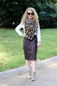 Lawyer Lookbook: Leopard Scarf