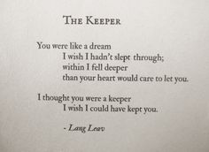 The Keeper - beautiful poem