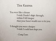 The Keeper - beautiful poem