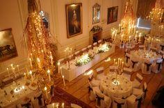 A Wedding in the Ballroom of Hassop Hall Hotel