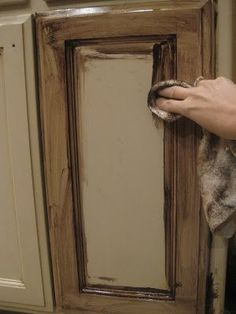How To Paint Over Stained Bathroom Cabinets glazing/ antiquing cabinets. a complete how to guide from a