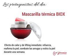 Cosmético Antiedad: La #mascarilla tiene un efecto de calor y de lifting inmediato sobre la #piel. Refuerza, reafirma la piel y combate las #arrugas. Línea Biox by Premier. #ProductosPremier