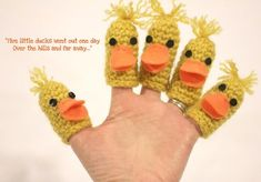 5 Little Ducks Crochet Finger Puppets
