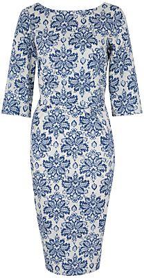 Closet Floral V Back Dress, Blue on shopstyle.com.au