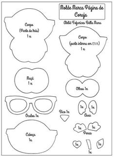 Easy Felt Molds and Handouts: Felt Owl Page Marker Quiet Book Templates, Quiet Book Patterns, Book Markers, Page Marker, Felt Crafts Patterns, Felt Bookmark, Felt Books, Owl Crafts, Creation Couture