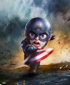 Captain America: Mini Avengers Series by Kuchu Pack Marvel Dc Comics, Marvel Avengers, Avengers Series, Marvel Heroes, Marvel Characters, Marvel Movies, Captain America Wallpaper, Die Rächer, Avengers Wallpaper