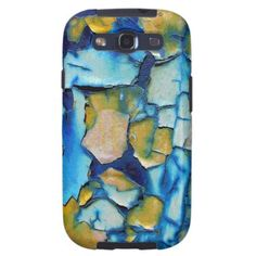 Blue Rust, And Gold Chipping Paint Galaxy S3 Case