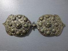 Antique Ottoman Turkish Silver Alloy Cast Filigree Belt Buckle Original 19th C Islamic | eBay