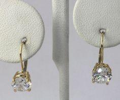 14k Yellow #Gold Round Cubic Zirconia Solitaire Drop Dangle #Earrings #Fashion http://www.ebay.com/itm/-/401236572991?roken=cUgayN&soutkn=i3ZnZ4 via @eBay
