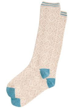 Cashmere Folk Socks  Brora