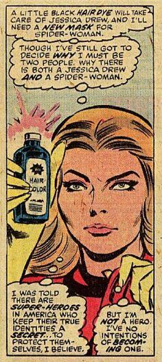 Spider Woman  Comic Book Panel