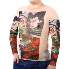 Men Long Sleeves Tattoo T-shirt #men, #hats, #watches, #belts, #fashion