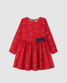 Vestido de niña Petit Bateau con flores