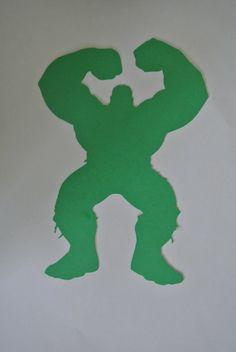 Hulk Silhouette Marvel Comics Papercut 4.5X7 by FinalCutArtDesign, $5.00