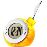 A very innovative alarm clock that requires only water and some drops of lemon juice to run