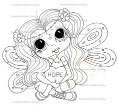 INSTANT DOWNLOAD Digital Digi Stamps Big Eye Big Head Dolls Digi  My Besties IMG712 By Sherri Baldy