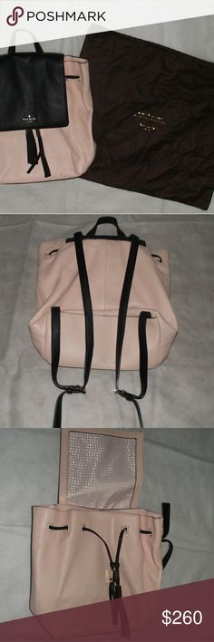 Kate Spade leather backpack with dust bag Never used, rose/black, large Wilder Grey Street backpack kate spade Bags Backpacks