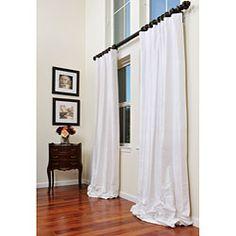 I love super long curtains