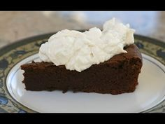 ▶ Flourless (Garbanzo) Chocolate Cake. Rich, Decadent Dessert Topped With Kahlua Whip Cream by Rockin Robin - YouTube