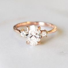 Diamond Rings Modern, graceful, and utterly sweet. - Classic simplicity defines this delicate setting, which features a thin precious metal band that gently tapers towards a diamond accent on each side of the center gem total carat weight). Wedding Rings Vintage, Vintage Engagement Rings, Vintage Rings, Wedding Jewelry, Wedding Bands, Gold Wedding, Elegant Wedding, Country Engagement, Wedding Table