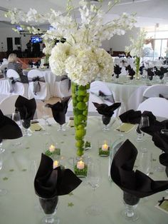 LOVE this centrepiece, only it should have pussy willows instead of orchids