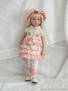 "13"" Effner Little Darling BJD fashion pink fluff dress set OOAK handmade by JEC"